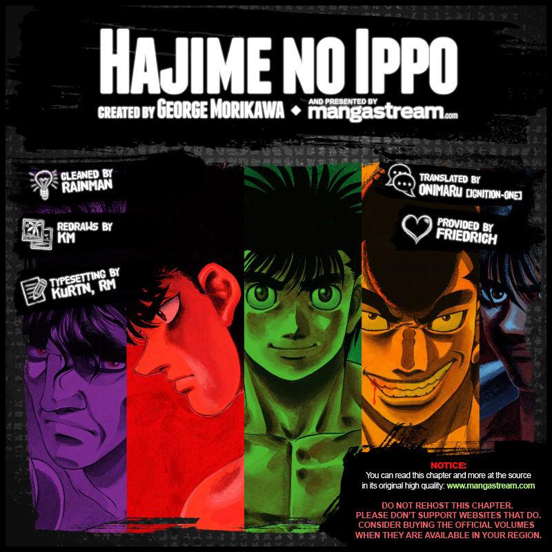 Hajime no Ippo - Chapter 1101