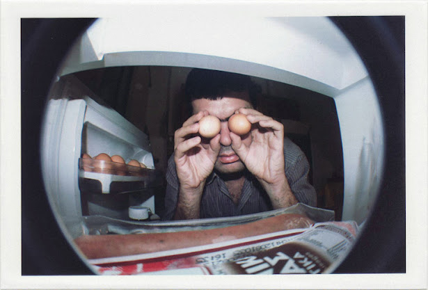 dirty photos - fumus - a photo of dirtyharrry selportrait with eggs in refridgerator