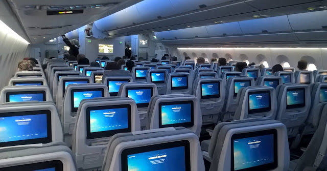 finnair airbus a350-900 economy class entertainment system