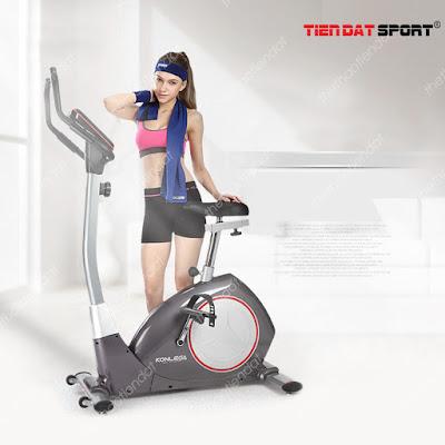 Xe đạp tập có yên xe đảm bảo tập luyện thoải mái hơn.