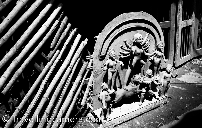 Festival season has started in India. Navratris, Durga Puja, Dussehra, Diwali and all of these in the month of October. These days everyone is enjoying Durga Puja by visiting various pandals in the vicinity.     The other day we were discussing about Durga Puja on lunch table. And scale of this festival amazes most of us. It's prominently celebrated in West Bengal but now it's celebrated in almost every city and not limited to Bengali families. There is a huge area called Kumartuli in Kolkata where Durga Puja idols are made and exported to various countries in the world. Lot artists from Kumartuli and other areas move to various cities of India to help creating some beautiful Durga idols. Soil used to make these idols has to come from Kumartuli. So soil from Kumartuli is mixed in all idols made across the world. Isn't that amazing.     There are many such regional festivals in India which are celebrated at community level but I have seen Durga Puja as one of the most popular so far. In Kolkata, almost every street has it's own Pandal and celebration. And in cities like Delhi, non-Bengali people also love visiting these Pandal and celebrate Durga Puja. There are plenty of options to eat in these pandals and that's one of the best part of Durga Puja.     Ganesh Chaturthi is another community festival which is extremely popular in Maharashtra but I have not seen much influence in north. People has started celebrating it in cities like Delhi, but still it's not happening at community level like Durga Puja.     The preparations of Durga Puja celebrations start very early. Kumartuli artists start working on idol from the month of March, even when it's celebrated in the month of October. Lot of these artists start getting orders for next year just after the Durga Puja. To fulfil high demand of these idols in international market, Artists have to start quite early. They also need to consider the time for shipping these idols to different countries. It seems there are agenci
