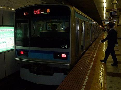 【平日夜間限定!】E231系の東西線 快速 三鷹行き