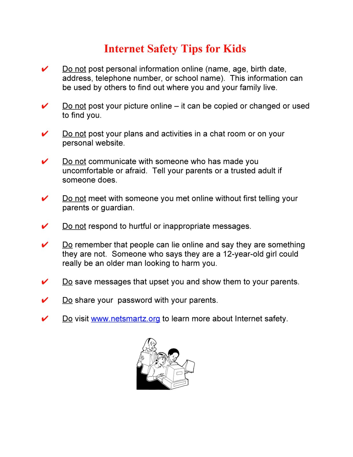 Dr Cerny S B R Hype Internet Safety Tips For Elementary