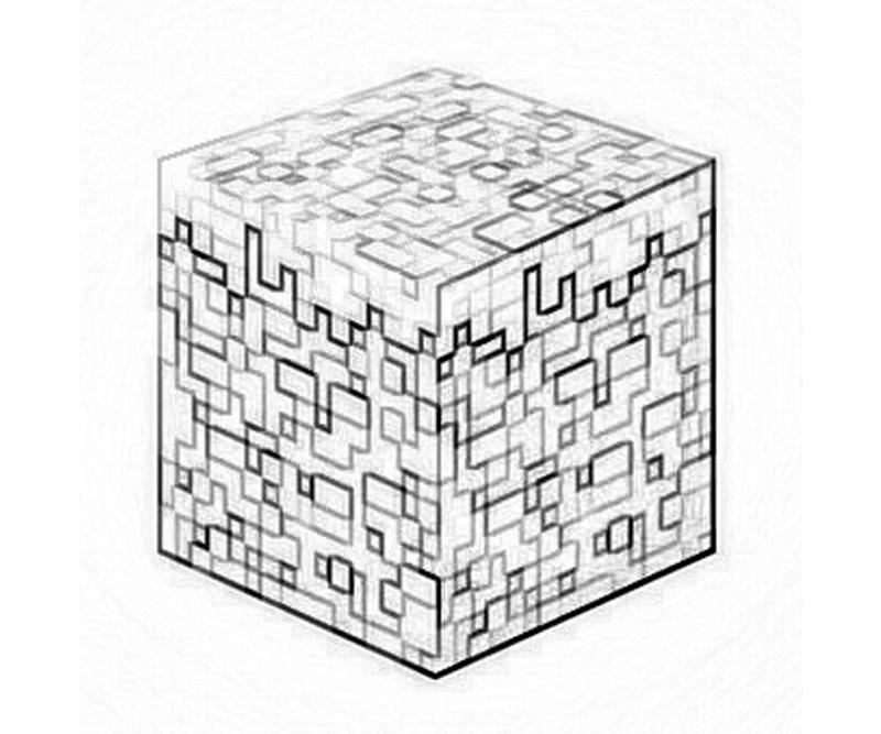 minecraft blocks coloring pages - photo#2