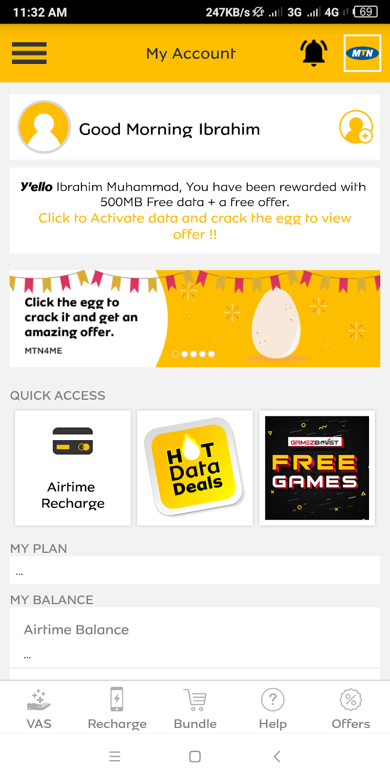 Get Free MTN 500MB Data With MyMTN App - Android Home - Free