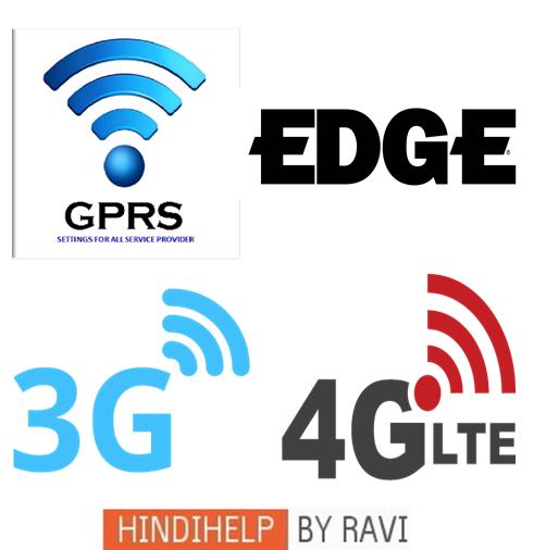 EDGE-GPRS-3G OR 4G ME KYA ANTAR H in hindi ~ Hindi Me Help