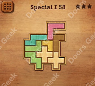 Cheats, Solutions, Walkthrough for Wood Block Puzzle Special I Level 58