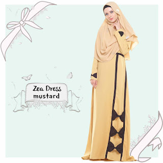 Gamis Valisha Zea Dress Mustard