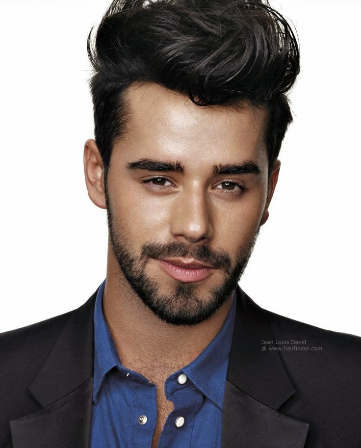 Model rambut pria untuk wajah oval