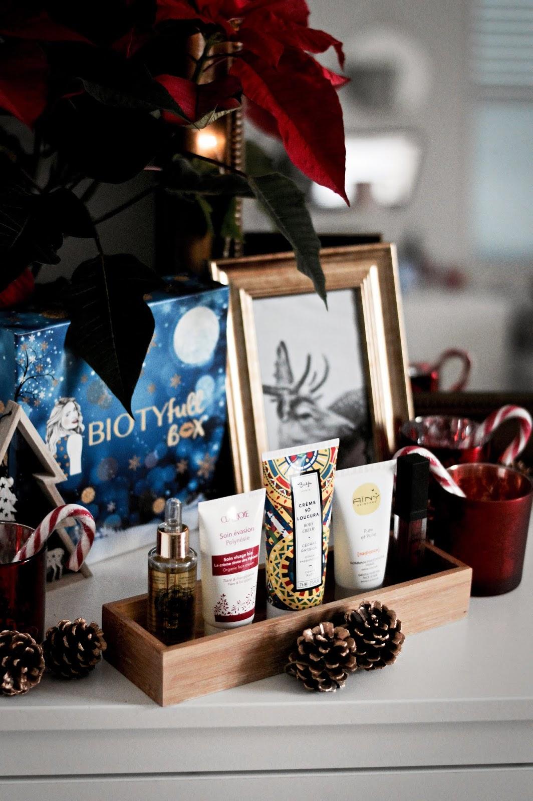 """Box beauté bio : Biotyfull box de décembre """"la festive"""""""