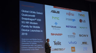 Modem X50 Berbasis Qualcomm 5G Akan Digunakan Oleh 18 OEM Pada Tahun 2019