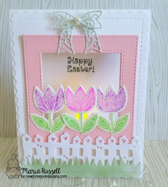 Easter Card with Tulips by Maria Russell | Beautiful Spring Stamp Set by Newton's Nook Designs