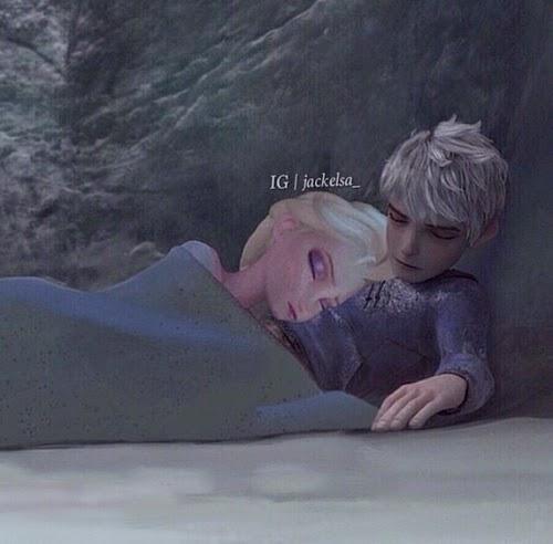 Gambar Jack dan Elsa Frozen tidur