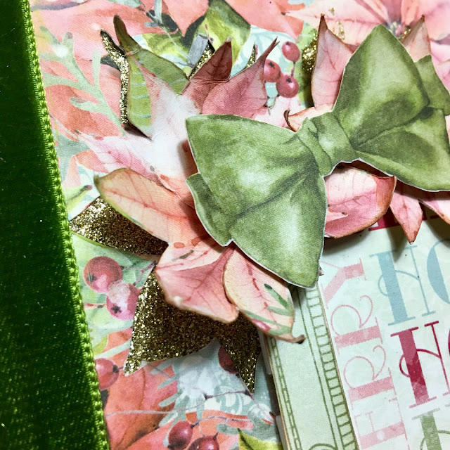 12 Days Of Christmas Altered Book by Angela Tombari using BoBunny Carousel Christmas Collection