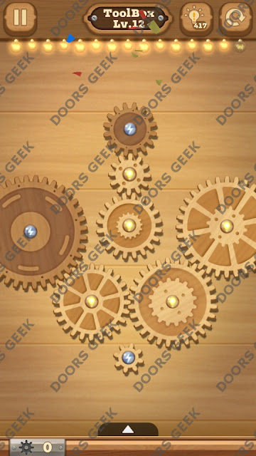 Fix it: Gear Puzzle [ToolBox] Level 12 Solution, Cheats, Walkthrough for Android, iPhone, iPad and iPod