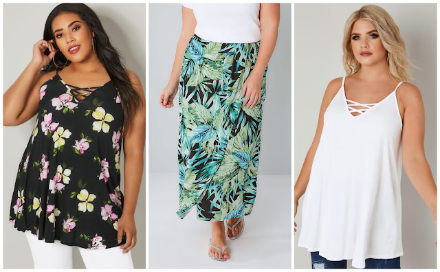 Yours clothing items on my wishlist - tops and skirt