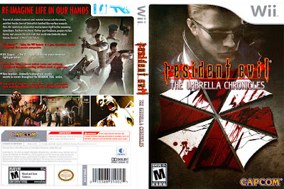 Jogo Resident Evil The Umbrella Chronicles Wii DVD Capa