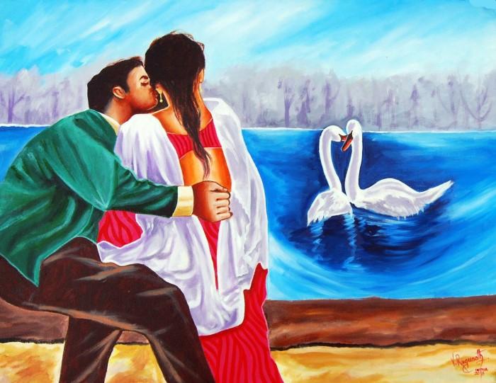 Индийский художник. Ragunath Venkatraman