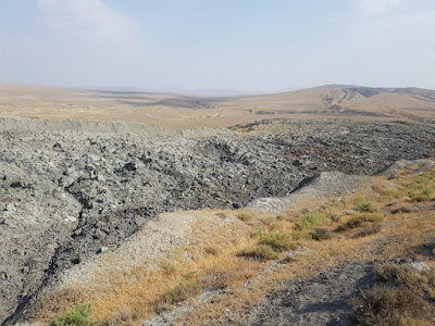 Terreno de lodo en Azerbaiyán