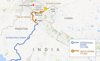 pakistan india borders