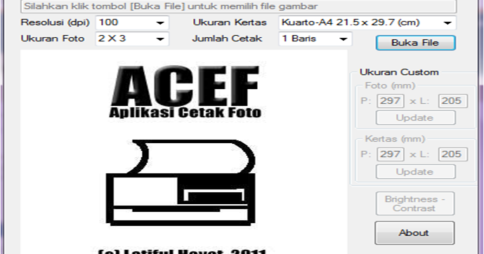ALL FR33 FULL VERSION: Download ACEF 2 Aplikasi Cetak Pas