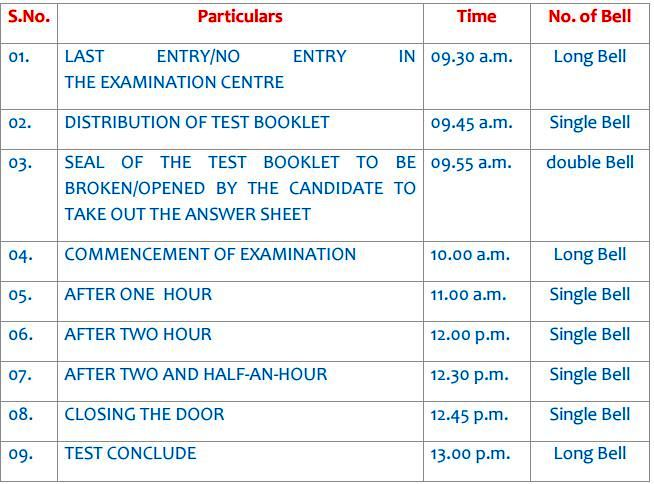 CBSE Notification on Bell Ringing Schedule