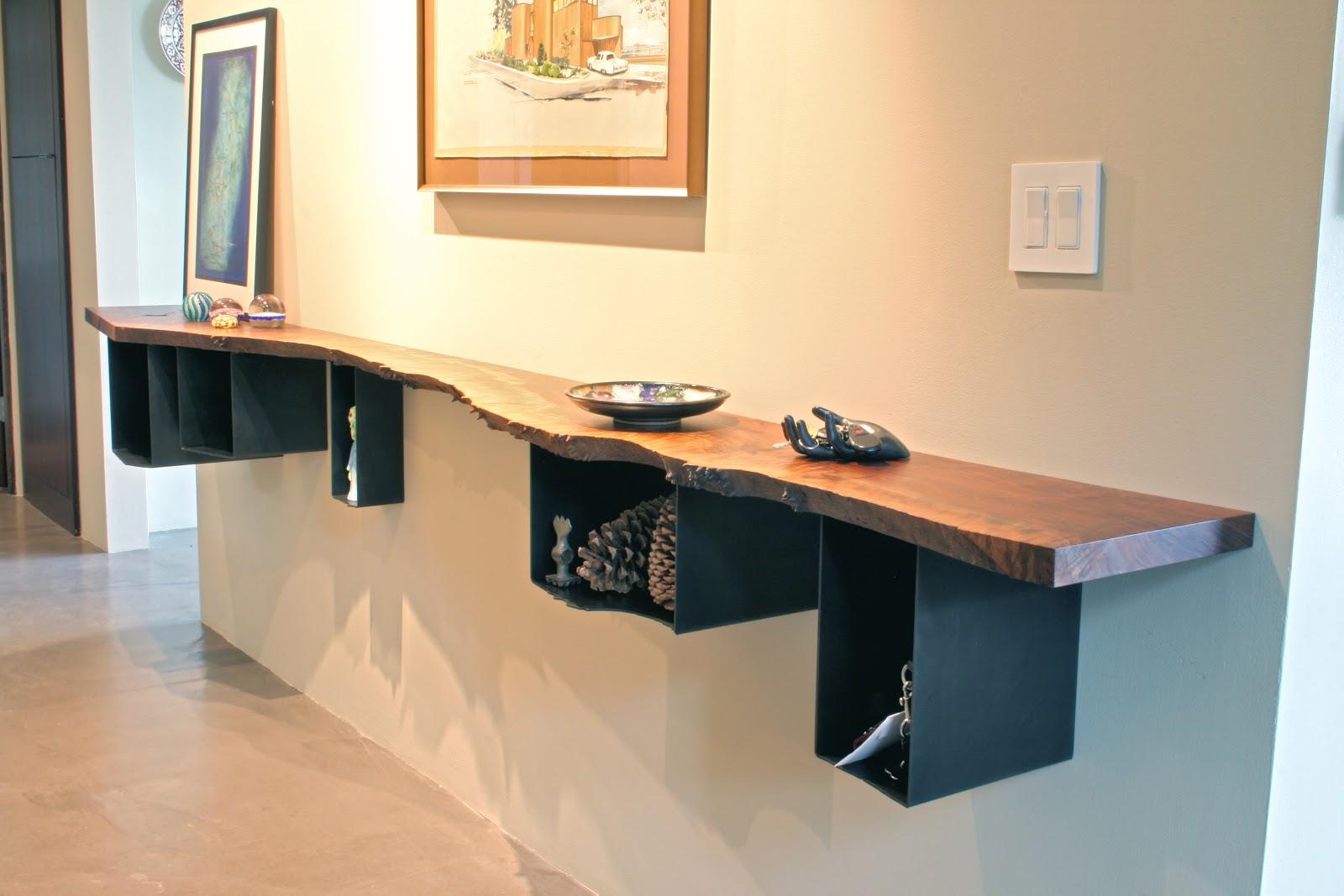 MADE: Walnut and Steel Hall Shelf