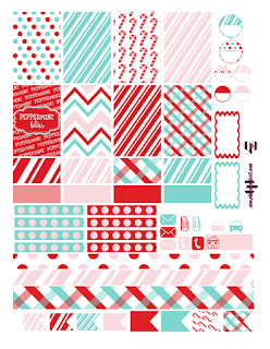 free peppermint christmas sticker planner printable plannerpickett