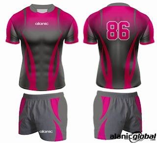 SUBLIMATED RUGBY JERSEY AND SHORTS
