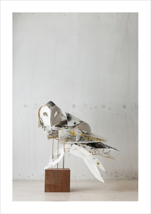 My Owl Barn Torn Paper Animal Sculptures By Anna Wili
