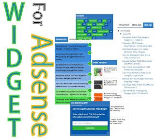 Ditolak google adsense karena navigasi sulit mungkin dengan memasang widget popular post/recent post,author,arsip,dan label membuat anda diterima google adsense. Wdiget yang harus dan wajib ada ketika mendaftar adsense untuk blog.