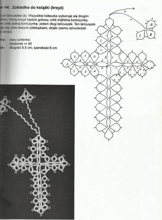 wzory frywolitki