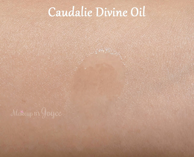 Caudalie Divine Oil Hair Face Body Swatch