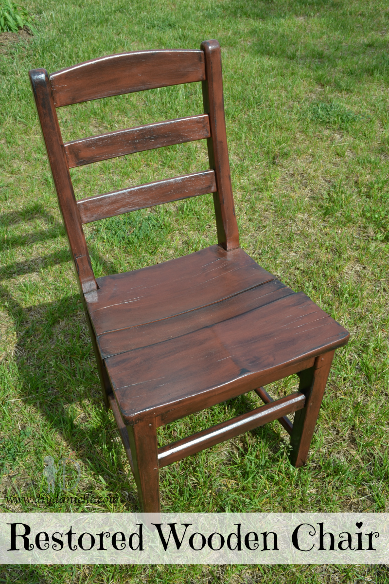 Restored Wooden Chair Saving The Life Of An Old Wood