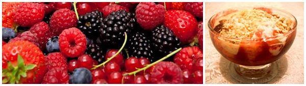Sundae De Amêndoas Com Geleia De Frutas