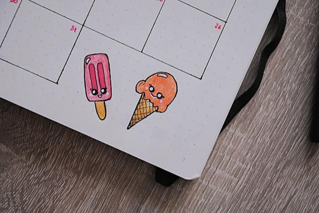 cute kawaii ice cream doodles