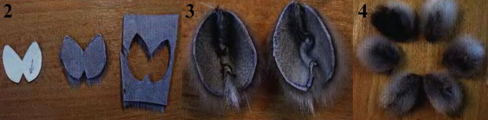 Цветок из меха и кожи для украшения шляпки