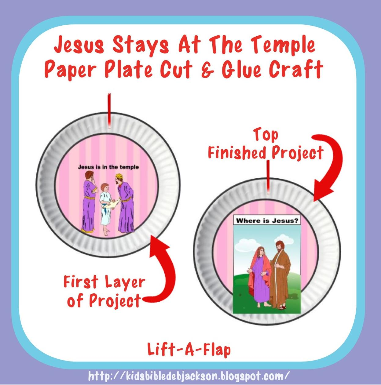 Bible Fun For Kids Jesus Stays Behind At The Temple Projects