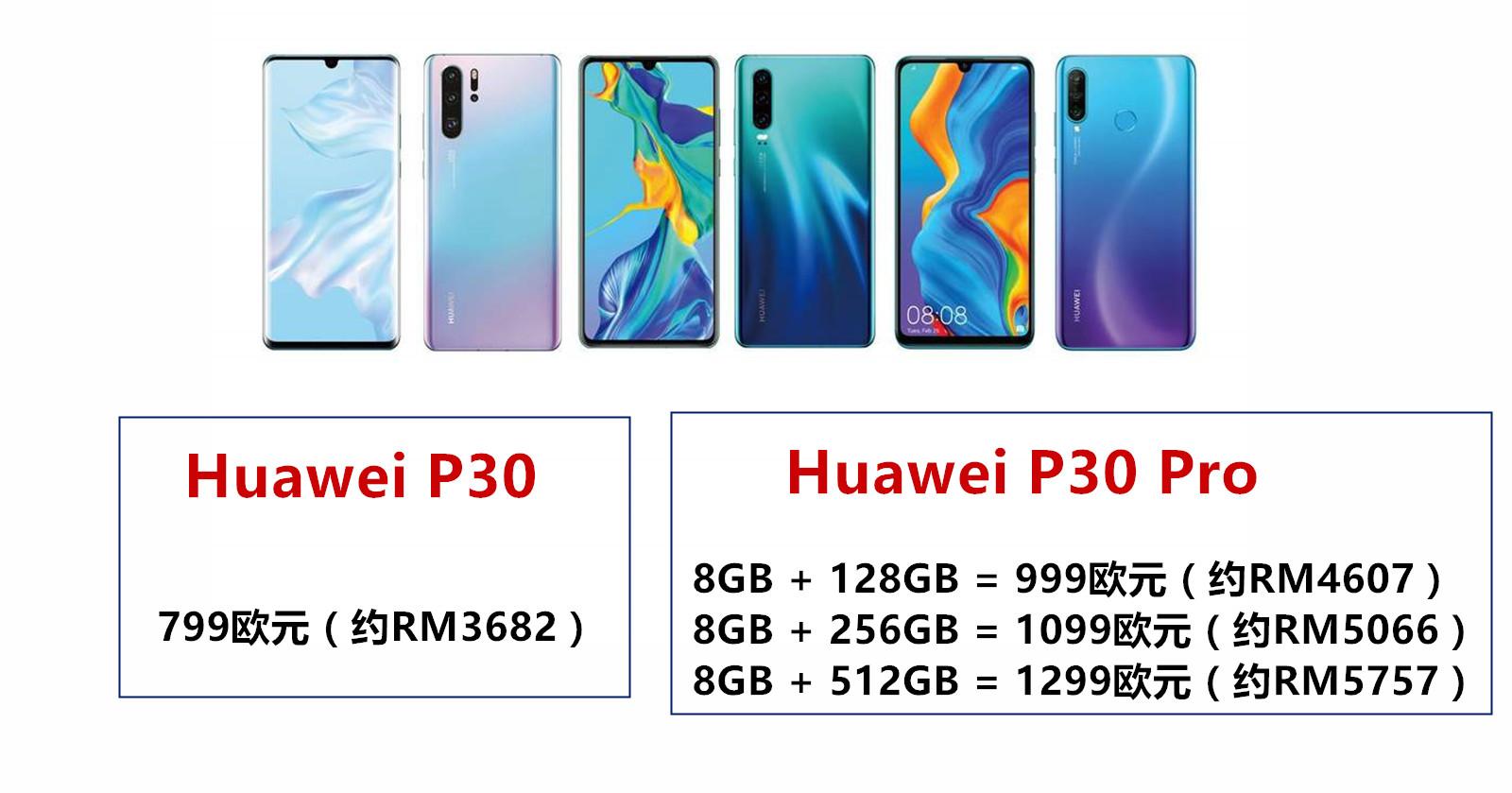 Huawei P30和P30 Pro详细配置