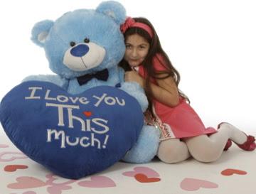 Marty Shags is a beautiful light blue bear