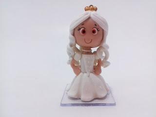 Rainha Branca da Alice de biscuit