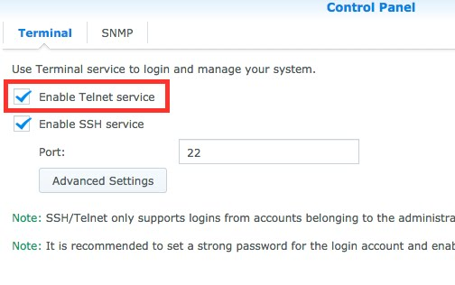 A Portal to a Portal: Synology NAS - Broke SSH but Telnet saved me