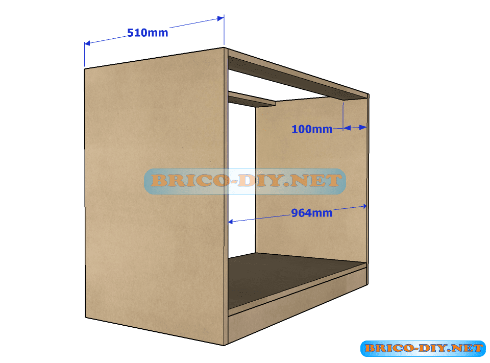 Plano y medidas como hacer una comoda con gavetas de mdf for Armar muebles de mdf