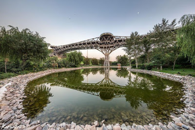 .  Construction of this 300 meter long bridge lasted between 2012 and 2014, making it the largest pedestrian bridge in Iran.