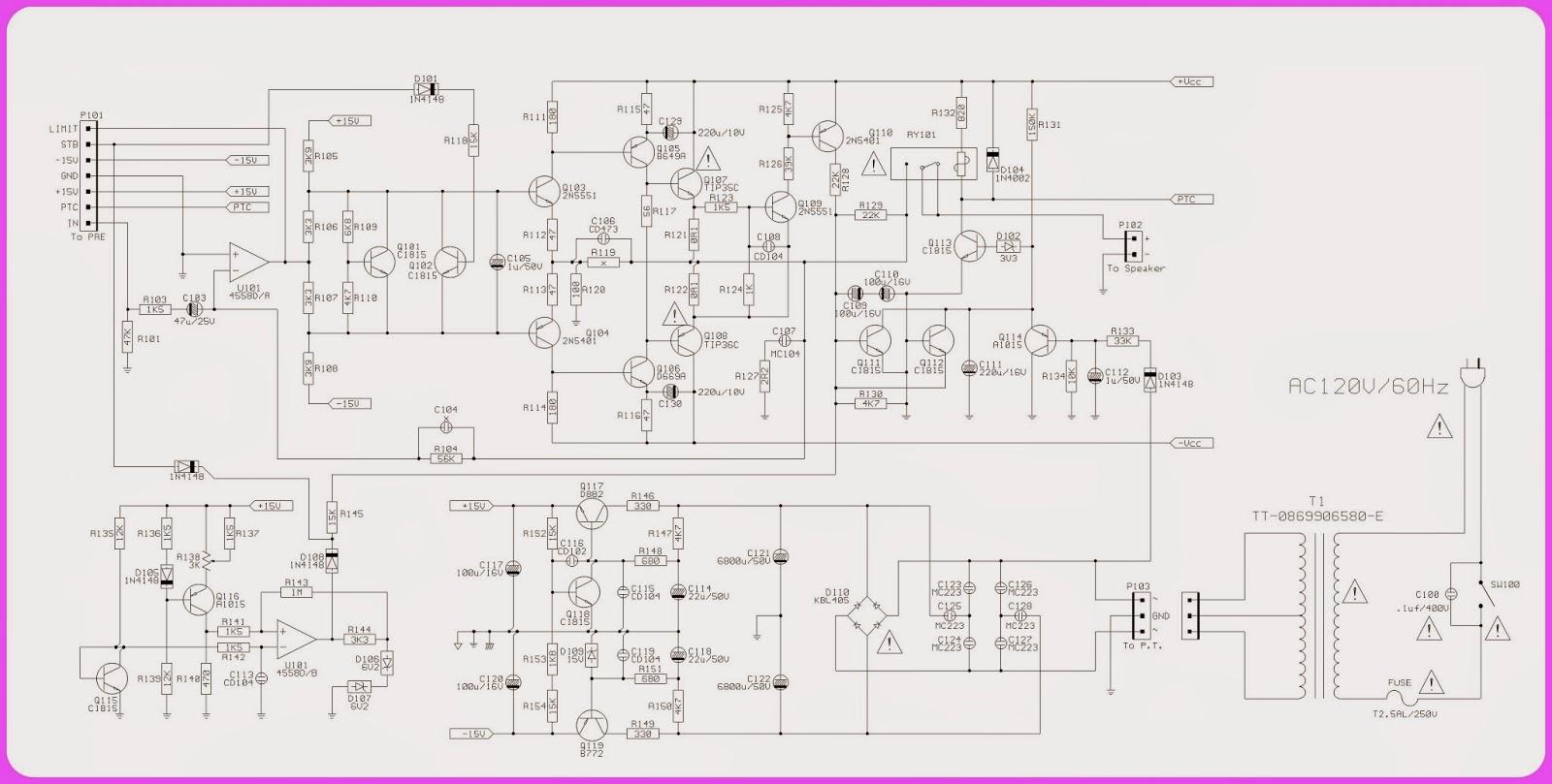 jbl subwoofer amplifier circuit diagram