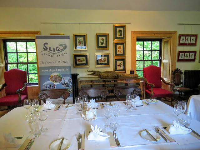 The table where WB Yeats wrote his poetry at Lissadell House in County Sligo, Ireland