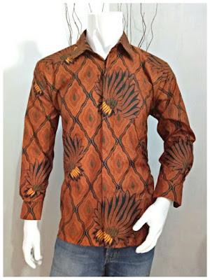 Kemeja Batik Pria Sogan Batik Solo 1