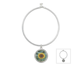 The Sun will shine again sunflower bangle bracelet