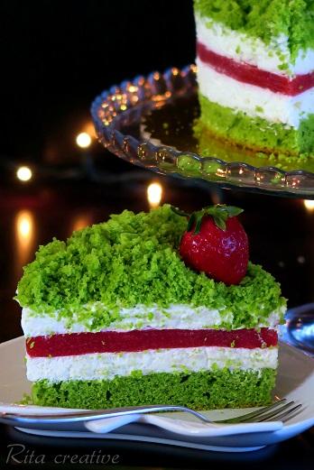 ciasto zielone leśny mech