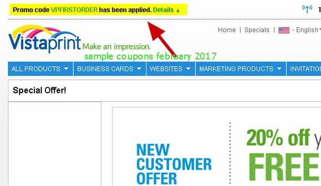 Vistaprint coupon codes 2018